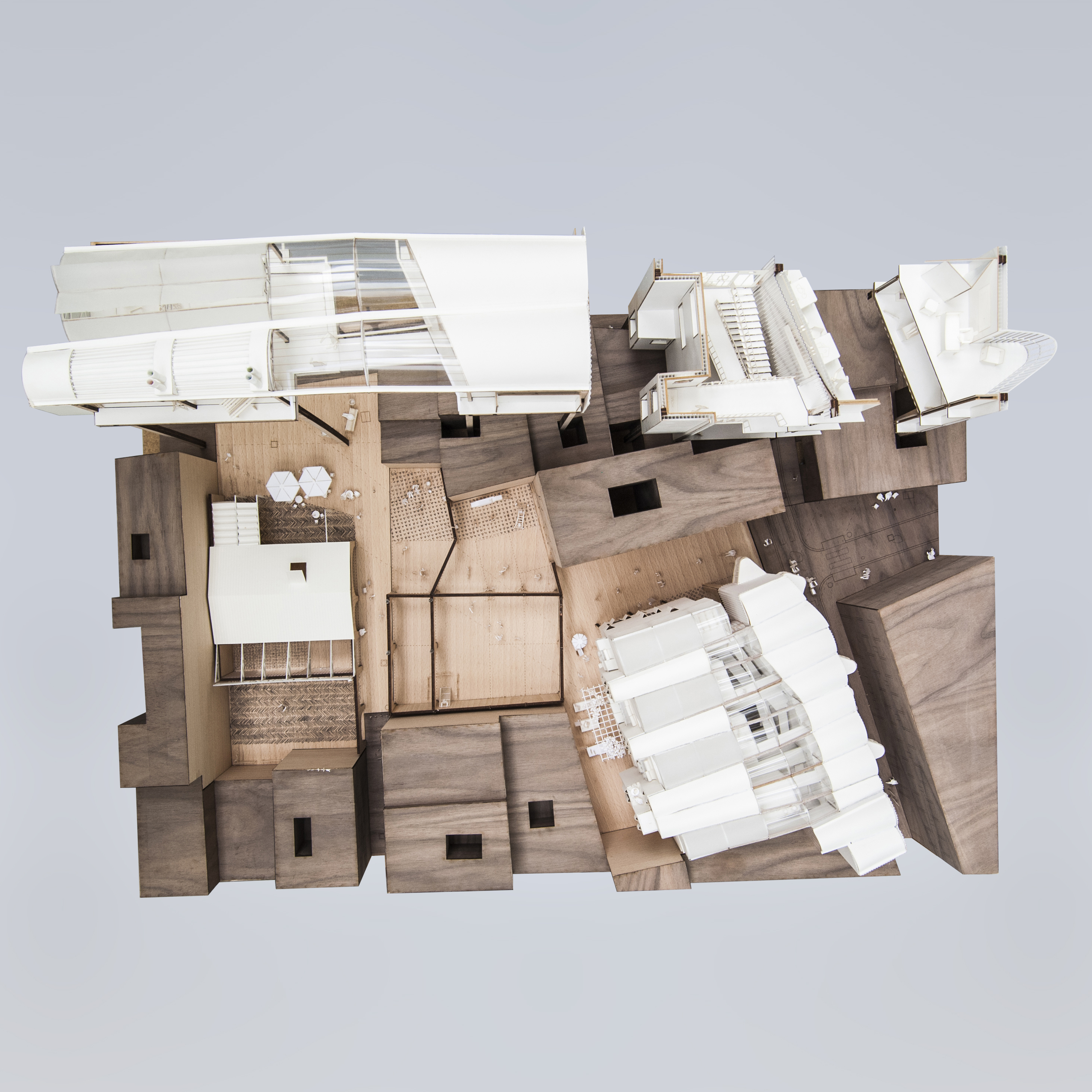 Architecture wooden model