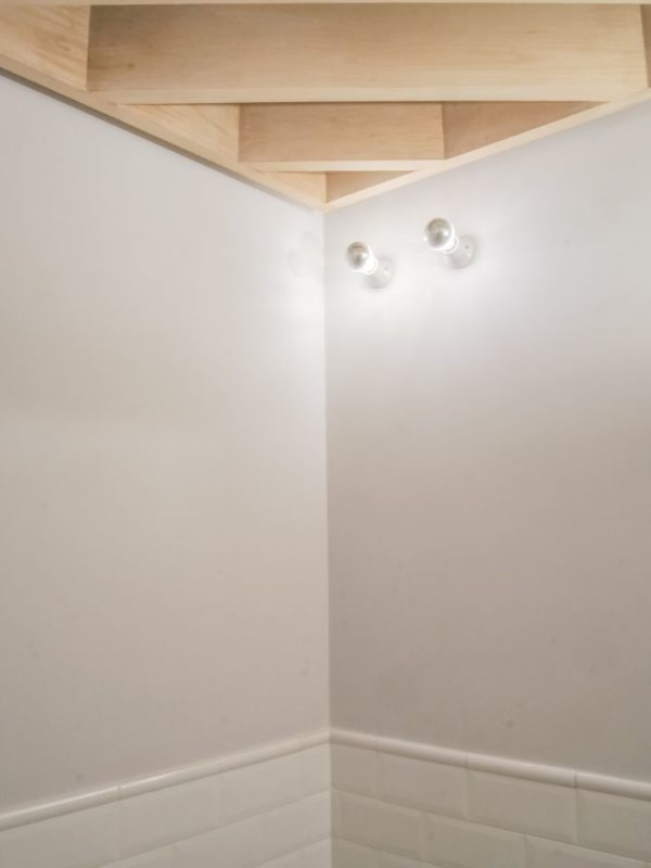 Bathroom ceiling detail