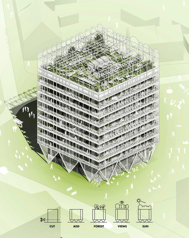 Edificio de viviendas productivas