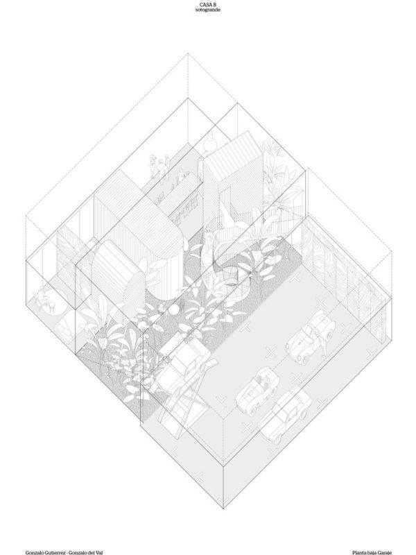 perspectiva axonometrica de la vivienda